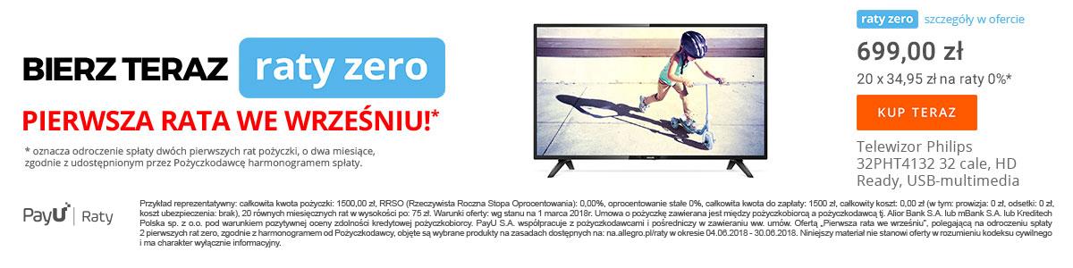 Kup telewizor na raty 20x0%