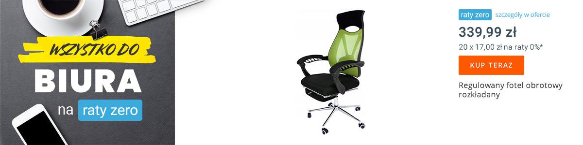 Regulowany fotel biurowy