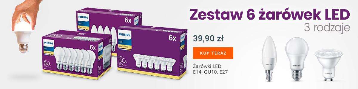 Zestaw 6 żarówek LED