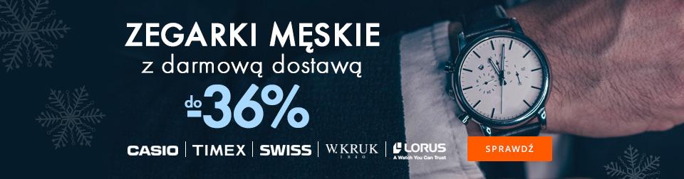 Zegarki męskie do -36%