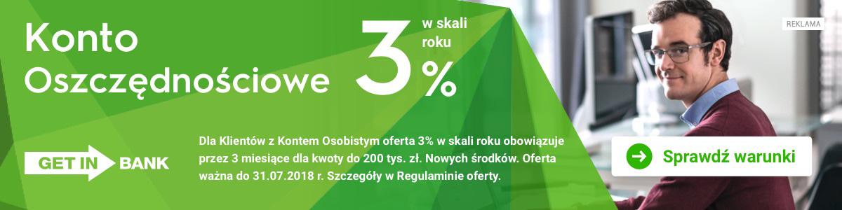 Getin Bank KO 3%