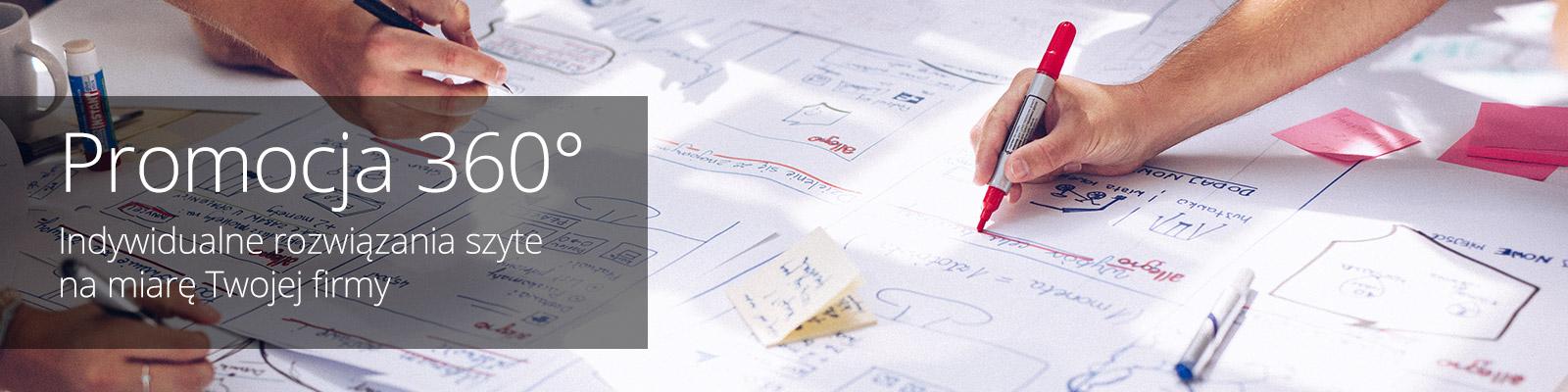 Promocja 360° Indywidualne rozwiązania szyte na miarę Twojej firmy