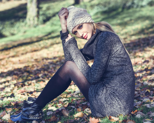 sukienki swetrowe
