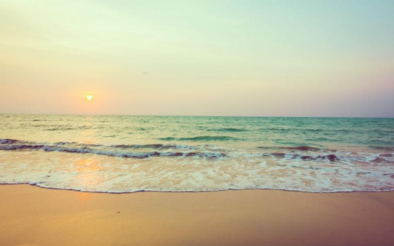 na plażę