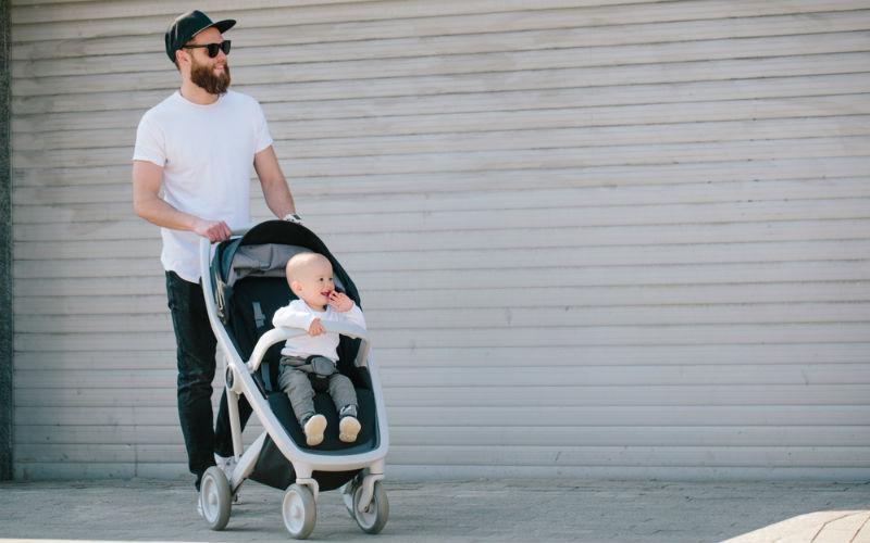 tata na spacerze