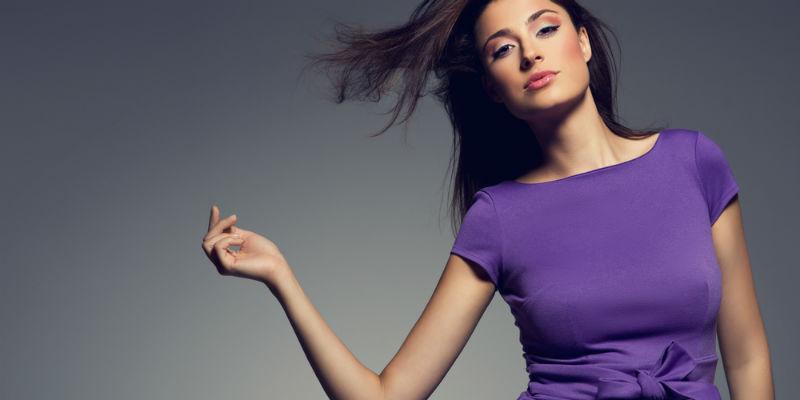 fioletowe ubranie