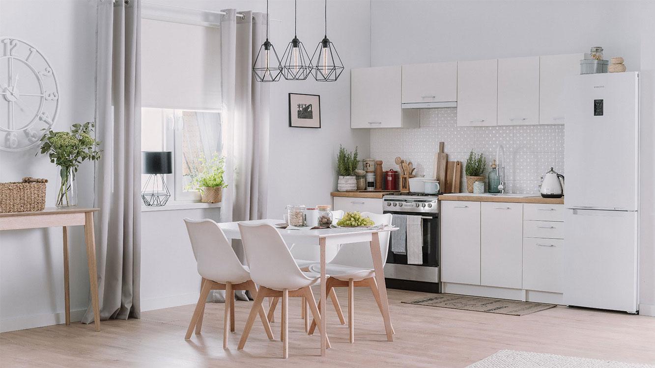 Biała Kuchnia W Stylu Skandynawskim Aranżacja Allegropl