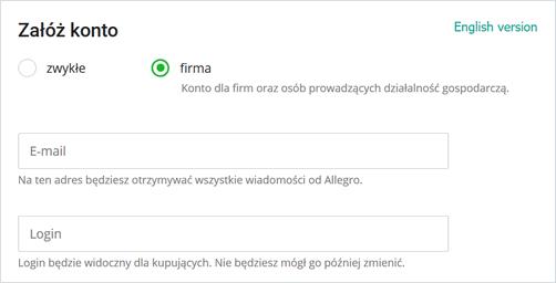Jak Zarejestrowac Konto Firmowe Pomoc Allegro