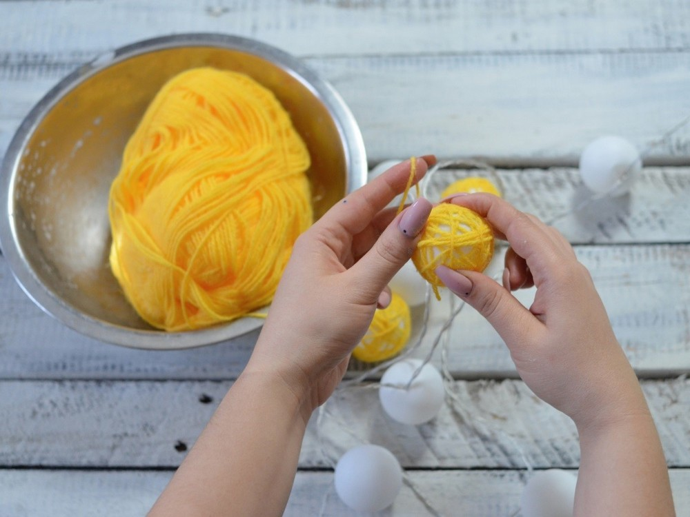 mini bavlnené gule ananás 6