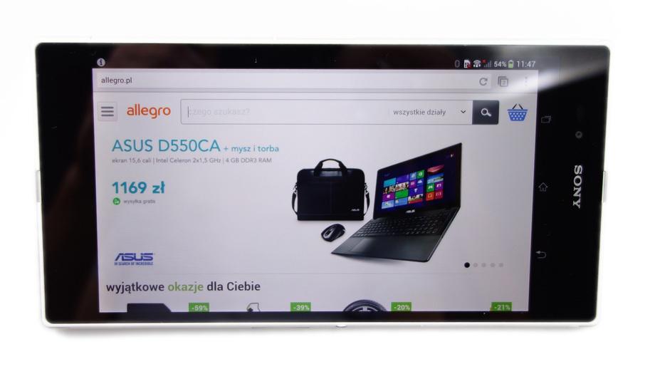 Test Sony Xperia Z Ultra Duzy Moze Wiecej Allegro Pl