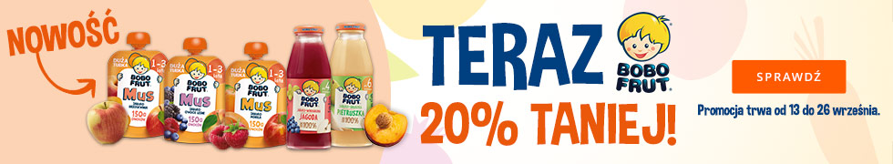 Teraz Bobo Frut -20%!