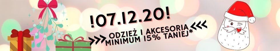 07.12 - ODZIEŻ 15% TANIEJ